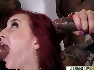 Redhead Vixen Amber Ivy In Interracial Gangbang