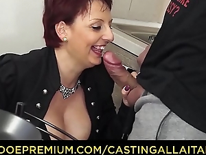 CASTING ALLA ITALIANA - Mature redhead riding chubby cock take her first porn chapter