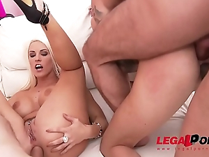 Blanche Bradburry &amp_ Lyen Parker lick &amp_ toy always others ass to prepare of hawt sex and DP