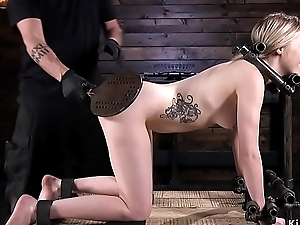 Kirmess pale ass paddled in bondage