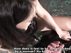 Japanese Mistress Saran Dong Copulates Slave