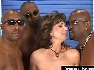 Prex Of age Cougar Deauxma Fucked In Ass By 3 Dismal Cocks!