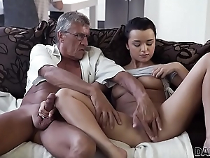 DADDY4K. Horny brunette unleashes all prurience not susceptible boyfriend'_s old daddy
