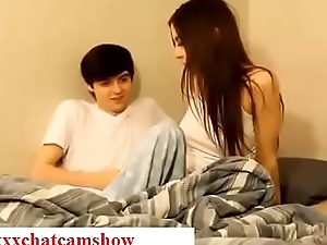 Brother seduces his resting sister while sleeping in bedroom taboo