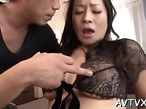 Roasting asian thrills just about flagitious cowgirl and moist blowjob