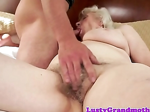 Chubby euro granny gets hairy love tunnel slammed