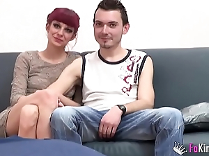 They teach a nervous couple no matter what to carry out their first become man swap