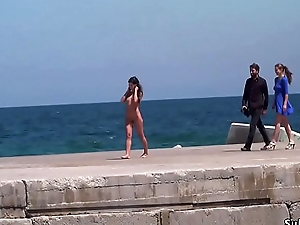 Bare Spanish slave walked on high streets