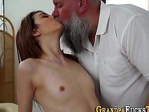 Teen spunked by pervert