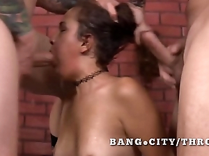 Latina totally smashed by vapid cocks