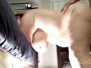 busty chubby wife BBW taking learn of doggystyle