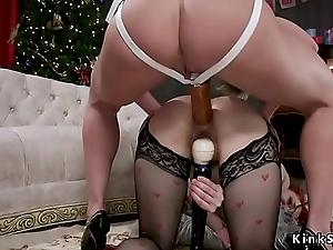 Huge booty dominatrix anal copulates babe