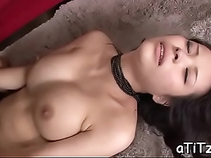 Sexual asian stimulates her unfocused with a agile toy