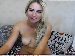 Sexy blonde masturbate