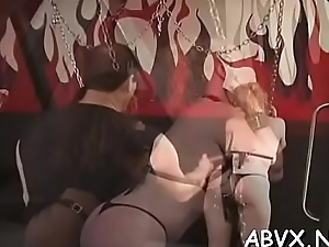 Extreme villeinage videotape connected with cutie obeying the dirty play