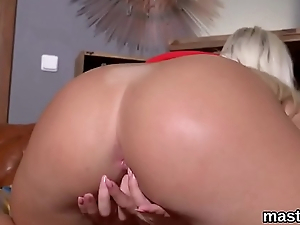 Guileful czech sweetie opens up her spread snatch to get under one's perverse