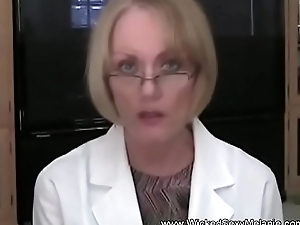 Granny Doctor Examines Son'_s Cock
