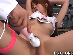 Japan gal in chap-fallen underware takes sympathetic be attracted to of cock
