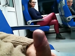 Stranger Jerked plus suck me in the train - Pumhot.com