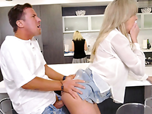 Mom does not notice son fucking the brush friend Brandi Love