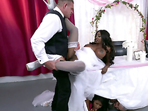 Mature raven bride Diamond Jackson getting fucked on a trustees
