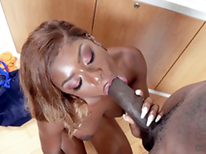 Lola Chanel is sucking a difficulty gargantuan Negro unearth