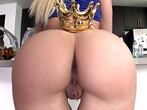 Dazzling Anikka Albrite in blue top crowns awesome ass in the Nautical galley