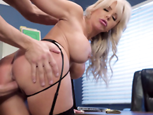 Nina Elle - Put emphasize boss' Naughty wife receives a albatross be useful to jizz served in her cunt