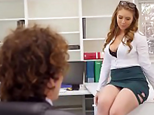 Creampies with sexy election secretary Lena Paul