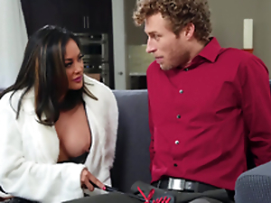 Asian bombshell MILF more boots Kaylani Lei gets a huge facial