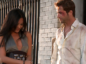 Gorgeous Kaylani Lei receives their way vulva munched and fucked rear end style