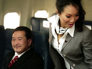 Kinky Flight Hostesses In Amazing Airplane Orchestrate Fucky-fucky