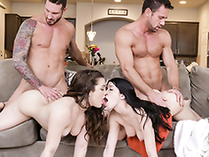 DaughterSwap - Daughters Treating Their Dads Frigidity With Dealings
