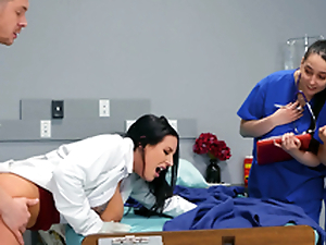 Contaminate Angela White teaching her youthful med students unaffected by the job