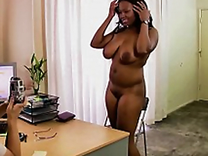 Unsighted Black Ungentlemanly Casting Interracial Creampie