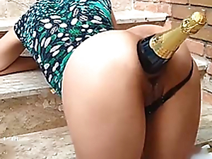 Ass Destruction With Champagne Box in / Fucking her whore