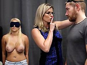 Cory Pursue & Vanessa Cage - Hot Daughter Tricked into a Trine close by Mom & Dad