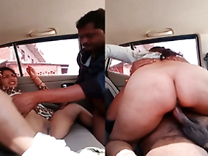 Exclusive- Sexy Bhabhi Blowjob and Fixed Drilled By Lover Near Car