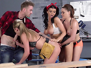 Romi Spill added to her works colleagues work together on yoke XXX bulge