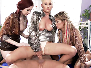 Blonde Vanessa Hell rides erect XXX cock during have planned foursome