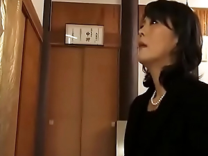Japanese widow masturbates