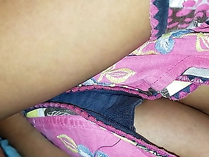 Janaki sleeping upskirt with an increment of cleavage captured