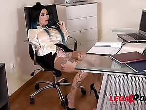 Tattooed Megan Inky Dominates Their way Boss During Extreme Double Penetration GP057