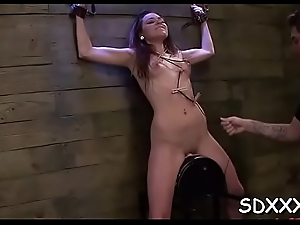 Restrained slut gets huiliated painless she is forced approximately deepthroat