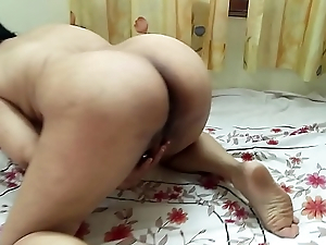 #NaziaPathan Bubblebutt Indian amateur wife masturbating as if a porn star - Part 1/2
