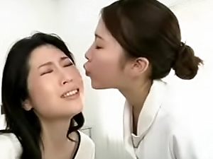 Japanese lesbian erotic spitting massage clinic Subtitled