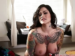 Attractive alt beauty fucked prevalent doggystyle