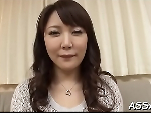 Cute asian receives raucous toying for her cum-hole with the addition of anal