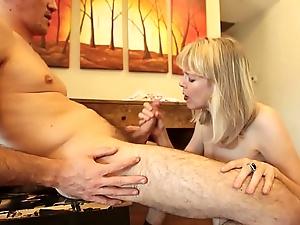 Mature Plays Penis